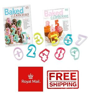 Numbers 0 1 2 3 4 5 6 7 8 9 Ages Birthday Biscuit Cookie Cutter Cake Baking
