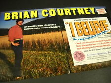 BRIAN COURTNEY Rare 1990 2-piece PROMO DISPLAY AD fast breaking hit single