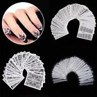 Nail Art Black White Lace Water Decals Transfers Stickers Wraps Manicure Decor