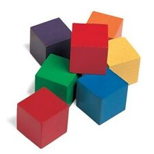 Teacher Resource Math Manipulatives 100 Harwood Color Cubes 2cm Autism SEND