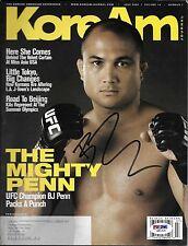BJ Penn Signed July 2008 KoreAm Journal Magazine PSA/DNA COA UFC 46 80 Autograph