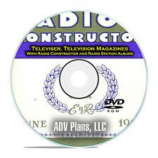 Televiser, Television Magazine, Radio Constructor, 651 OTR Magazines DVD E56
