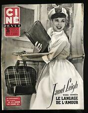 Ciné Revue 22/07/1955; Janet Leigh/ Glenn Ford/ Monique Van Vooren/ Mitchum