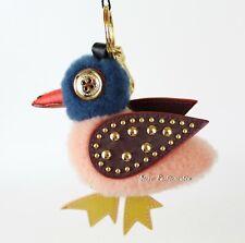 NWT Burberry Genuine Shearling Duck Bag Charm Key Charm, Ash Rose, MSRP $395