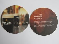 Beer Coaster ~ GUINNESS Brewery Draught Stout ~ The Presence of Beauty ~ IRELAND