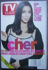 August, 1999 Tv Guide Media One Edition with Cher on Cover - Christina Aguilera