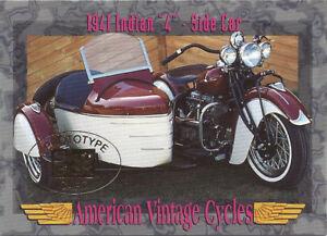 American Vintage Cycles Series II Skybox Promo Prototype 1941 Indian 4 Side Car
