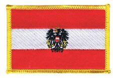 Österreich mit Adler Aufnäher Flaggen Fahnen Patch Aufbügler 8x6cm