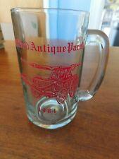 Vintage 1984 Clear Beer Mug Guilford CT Fire Dept Antique Parade