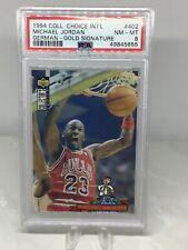 1994 CC International Gold Signature German #402 Michael Jordan PSA 8