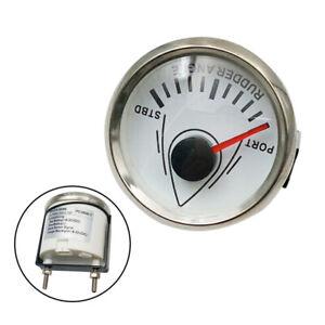 "52mm 2"" LCD 0-190ohm Rudder Angle Indicator Gauge Meter Marine 9-32V Waterproof"