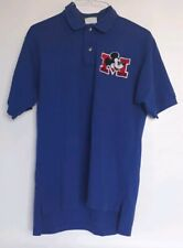 New listing Walt Disney Medium Mickey Mouse Golf Men's Polo Shirt Usa Blue Single Stitch