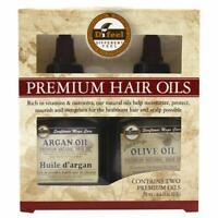 Difeel Premium Natural Hair Oil- Olive Oil Hair Oil & Argan Oil 2.5oz 2PC SET