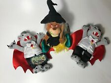 LOT OF 3 Meanies Count Dracubear Grisly Grizzlies Halloween '99 BEARWITCHED