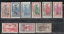 1924 French colony stamps, Martinique full set MH, SC 120-8