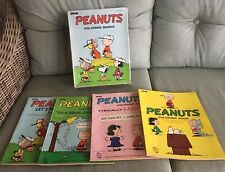 RARE Peanuts Charlie Brown Snoopy Vintage Coloring Book Lot Of 4 Books with box!