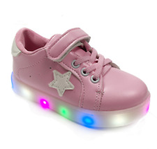 LED Light Up Kids Boys Girls Dance Sneakers Baby Causal Skate Sport Shoes