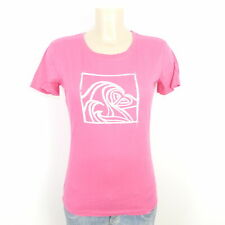 ROXY BY QUICKSILVER T-Shirt Kurzarm Print Pink Gr. M 38