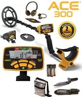 Garrett Ace 300 Metal Detector w/ Free Accessory Bundle + Finds Pouch & Digger