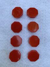 Vintage Bakelite Red Octagonal  Buttons