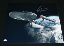 WILLIAM SHATNER SIGNED AUTOGRAPHED STAR TREK ENTERPRISE NCC-1701 16x20 PHOTO JSA