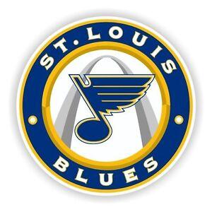 St Louis Blues Round Decal / Sticker Die cut