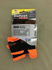"DeFeet ""Meta Tabby"" Cycling/Running Socks - Hi-Vis Orange - Unisex - Extra Large"