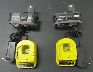 GENUINE Ryobi 18V ONE+ 5.0Ah Battery & Charger Combo Kit RRP $149 EACH