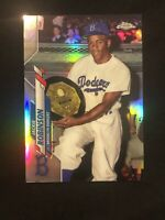 2020 Topps Chrome Jackie Robinson #77 Refractor SSP Code #641 Brooklyn Dodgers