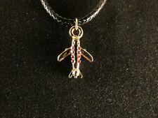Rimorchio 24 Carati Dorato aereo charm necklace Airplane catena strass
