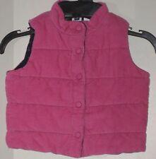 babyGAP Girls Size 6-12 Months Pink Blue Corduroy Floral Reversible Padded Vest