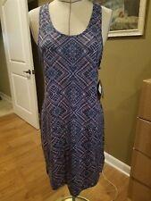 SmartWool Women's Basic Merino 150 Pattern Dress - Dark Blue Steel NWT $90 Sz XL