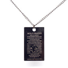 Wolf Prayer 20 inch Necklace Free Shipping USA Seller