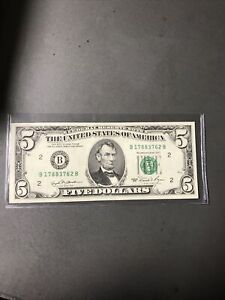 1981 $5 FRN With Minor Offset Error-Look!