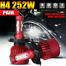 2x 252W 25200LM H4 9003 HB2 CREE LED Headlight Bulbs Conversion Kit Hi/Lo 6500K