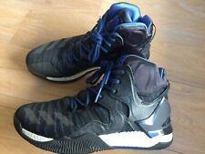 Adidas D Rose Basketball Shoes 7 Primeknit Black/Blue Men's SZ 8.5 EUC