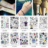 Temporary Tattoos Body Arm Leg Waterproof Flash Tattoo Stickers 3D Body Art