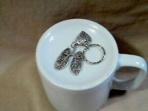 Lungs and Heart Shaped Charm on a Keyring for Lung Disease Awareness