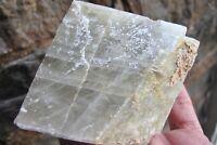 Calcite crystal natural Healing green Rhomboid raw chunk Brazil Heart Chakra
