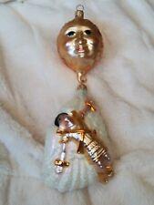 "1996 Patricia Breen #9627 Icarus Flies 2 Piece Blown Glass Christmas Ornament 9"""