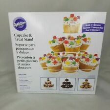 Wilton Spiral Cupcake Treat Stand White Metal Wire Pedestal New Open Box Tower