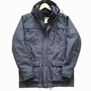 Jack Wolfskin Grey Outdoors Jacket Coat Hooded Windbreaker M Medium Mens