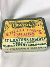 Vintage Sealed Crayola Collectors Colors Limited Edition, Tin with Crayons, 1991