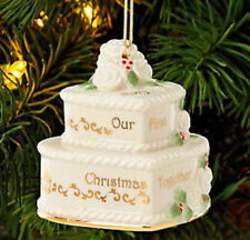 New In Box 2013 Lenox Our 1st Christmas Together Cake Ornament $60 First Quality
