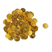 Toy Plastic Money Gold Coins 100 Count Bag, Pirates Loot