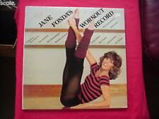 JANE FONDA'S WORKOUT COLUMBIA RECORDS CX2-38054 TWO LP'S 1982 NO SCRATCHES
