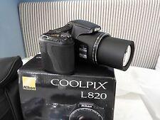 """Nikon Coolpix L820,16 MP- Nera """"NUOVA"""""""
