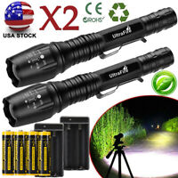 Tactical Police High 350000 Lumens 5-Mode T6 LED 18650 Flashlight Aluminum Zoom