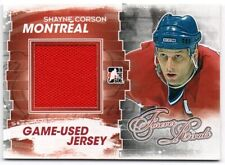 2012-13 ITG Forever Rivals Game Used Jersey #M29 Shayne Corson CANADIENS
