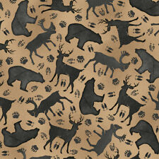 FABRIC QT ~ MOOSE TRAIL LODGE ~ Audrey Jean Roberts (26684 A) by the 1/2 yard